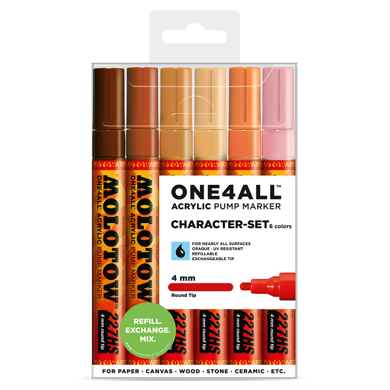 ONE4ALL™ 227HS 4mm 6x - Character-Set - Clearbox