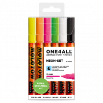 ONE4ALL™ 127HS 2mm 6x - Neon-Set - Clearbox