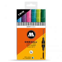 ONE4ALL™ Acrylic Twin 1,5mm/4mm 6x - Basic-Set 2 - Clearbox