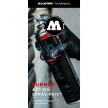 Burner™ Action Spray Paint flyer