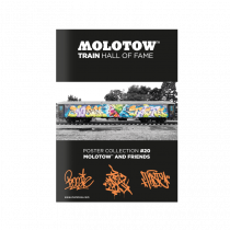"MOLOTOW™ TRAIN Poster #20 ""MOLOTOW™ AND FRIENDS"""